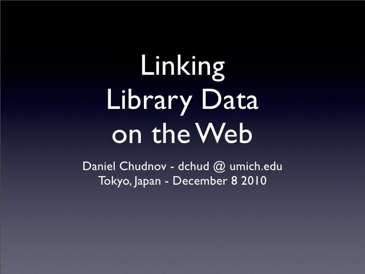 Linking Library Data on the Web