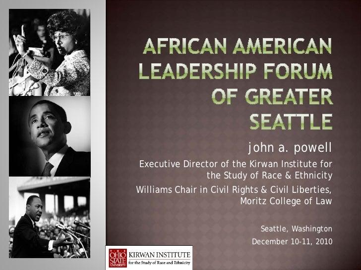 African American Leadership Forum of Greater Seattle