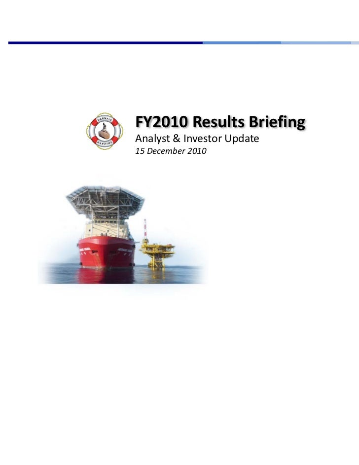 FY2010 Results Briefing