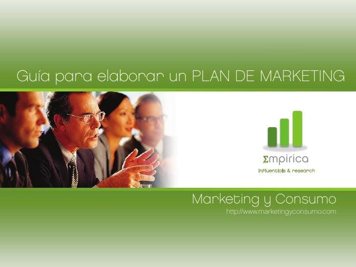 Guía para elaborar un PLAN DE MARKETING                                  Σmpirica                                 influent...