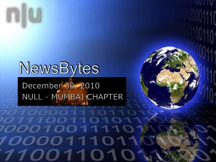 News Bytes - December 2010