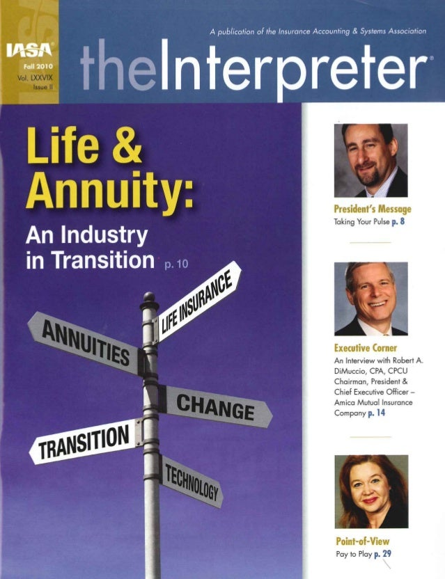 201012 IASA theInterpreter - An Industry in Transition