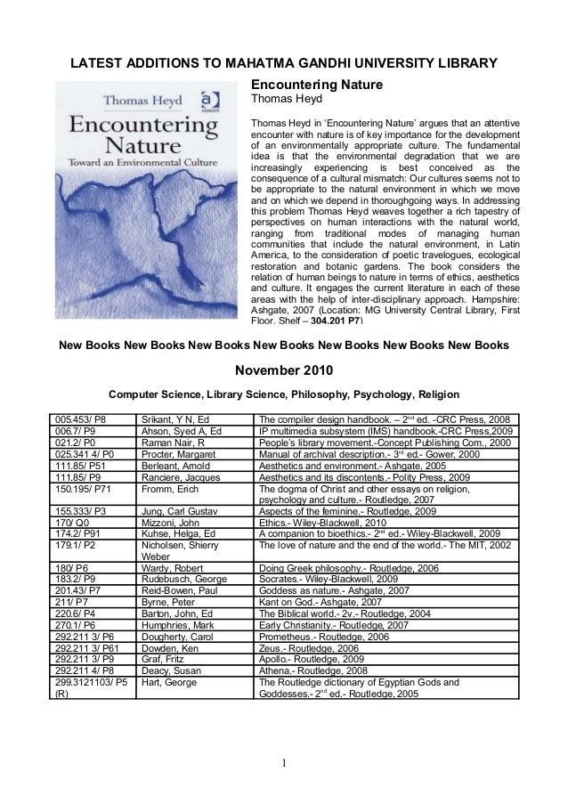 LATEST ADDITIONS TO MAHATMA GANDHI UNIVERSITY LIBRARY New Books New Books New Books New Books New Books New Books New Book...