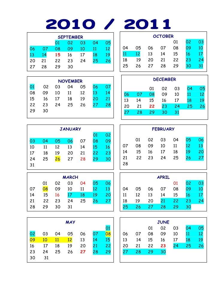 Calendar Year Quota Share : School year calendar