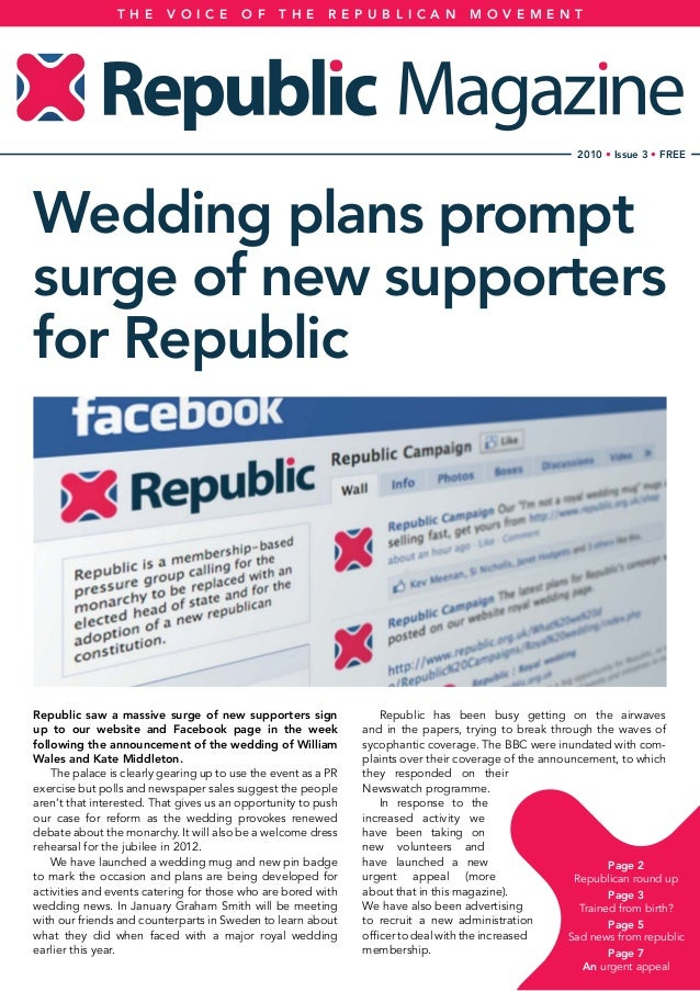 Republic saw a massive surge of new supporters sign up to our website and Facebook page in the week following the announce...