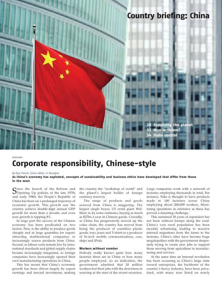 Ethical Corporation China Briefing March 2010
