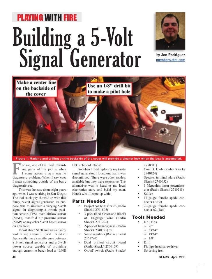 Building a 5 Volt Signal Generator