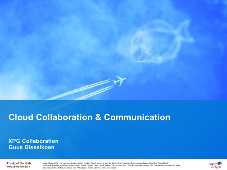 Cloud Collaboration & Communication XPG Collaboration Guus Disselkoen