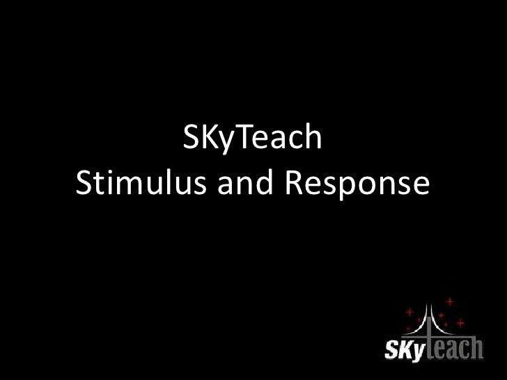 Stimulus and Response 5 E Lesson