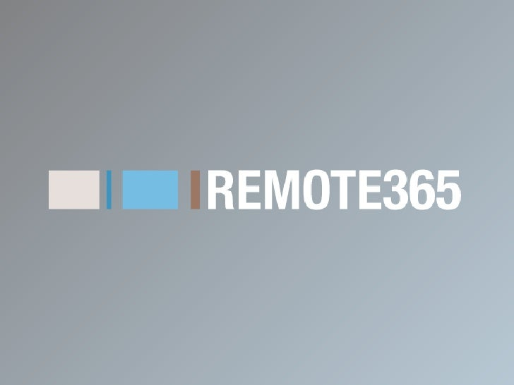 REMOTE365_Community Presentation