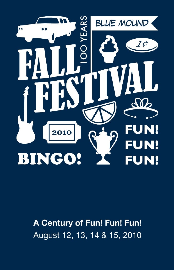 2010 Blue Mound Fall Festival Booklet