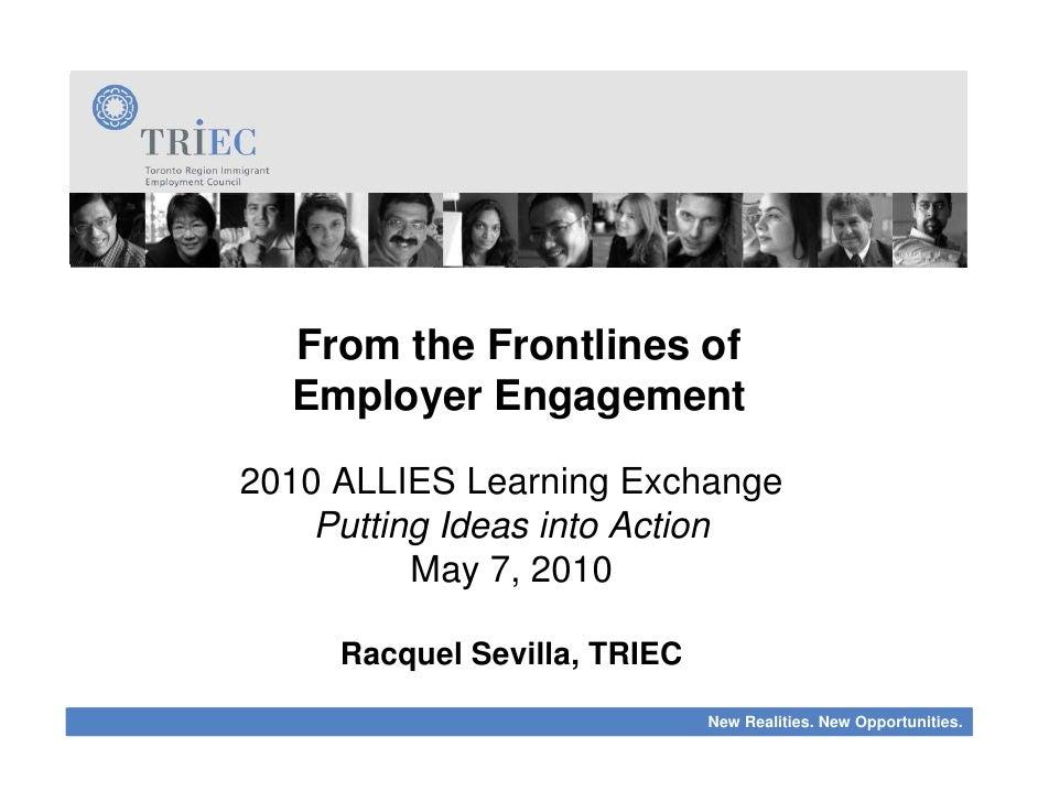 2010 ALLIES Learning Exchange: Racquel Sevilla - Employer Engagement
