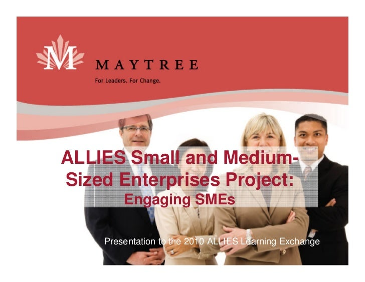 2010 ALLIES Learning Exchange: SME Presentation