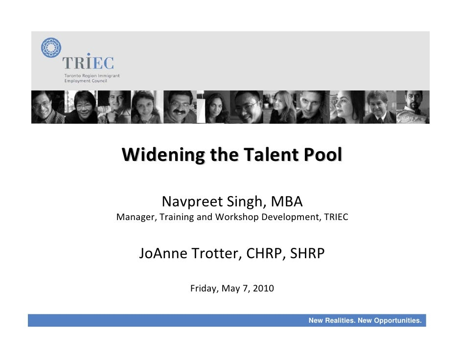 2010 ALLIES Learning Exchange: Widening the Talent Pool
