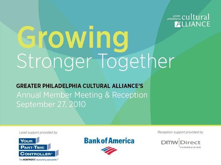 Arts & Culture. It's How We Grow.