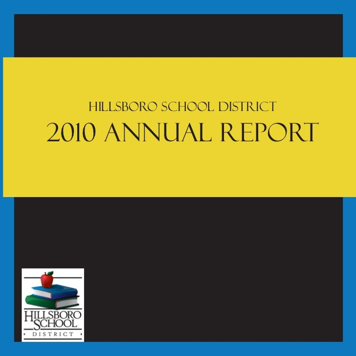 Hillsboro School District2010 Annual Report
