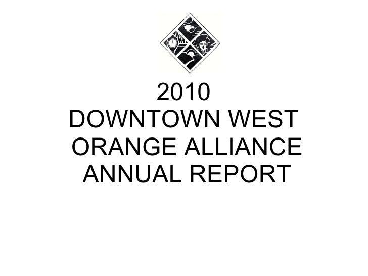 2010 annual report presentation