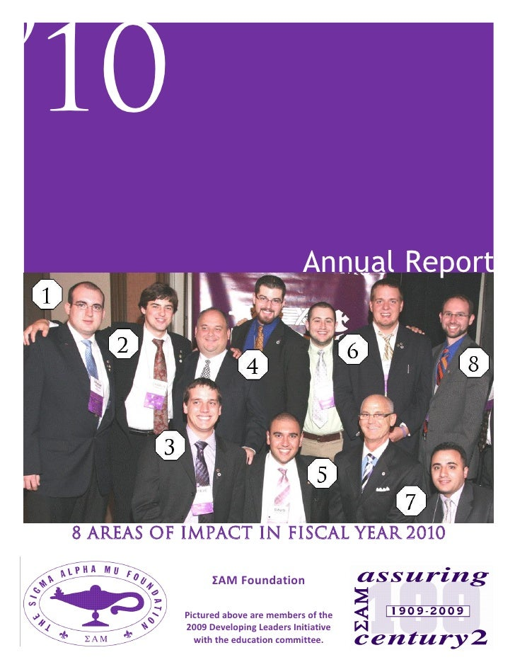'10                                                                      Annual Report                  8 Areas of Impact ...