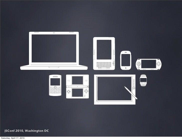 The Mobile Web @ 2010 JSConf