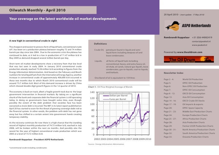 Oilwatch Monthly - April 2010