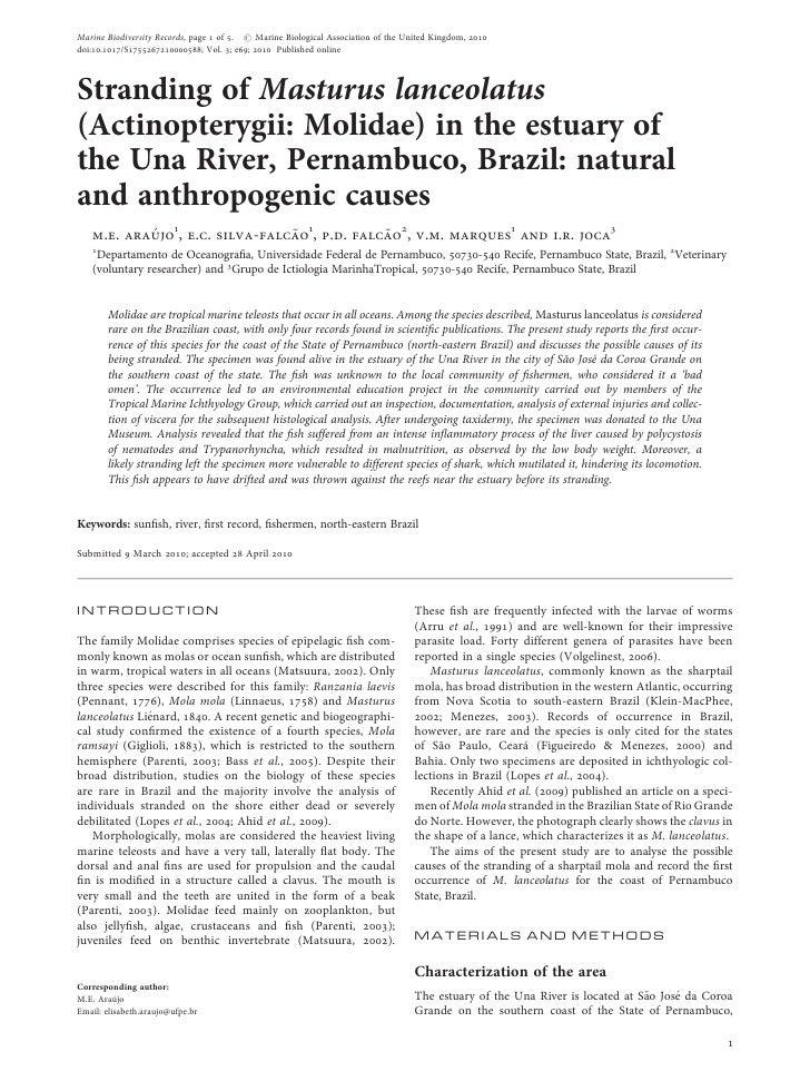 Marine Biodiversity Records, page 1 of 5. # Marine Biological Association of the United Kingdom, 2010 doi:10.1017/S1755267...