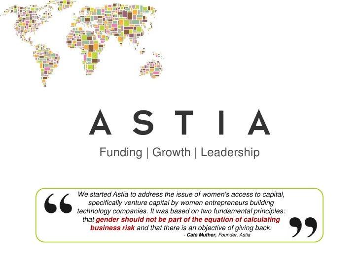 Astia Securing Female Participation in Enterprise