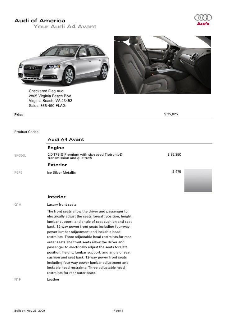 2010 Audi A4 Avant Virginia Beach