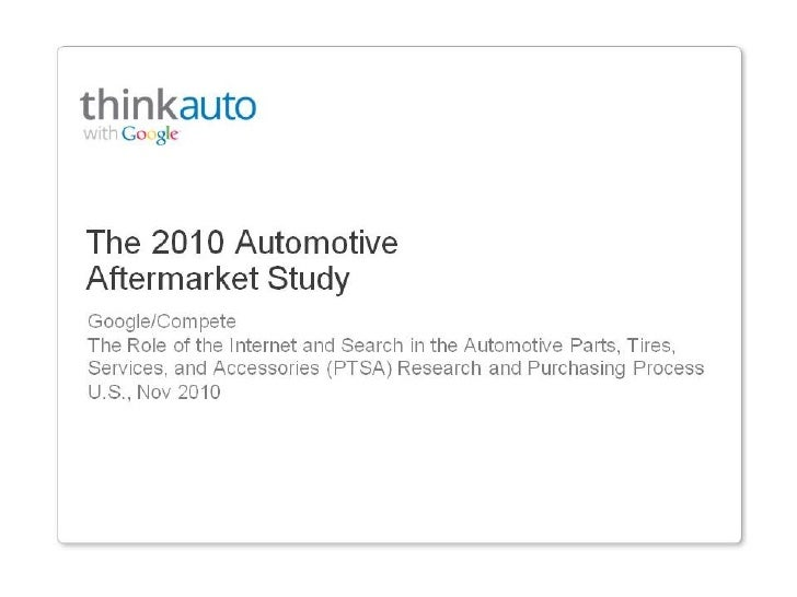 2010 Automotive Aftermarket Study Ptsa