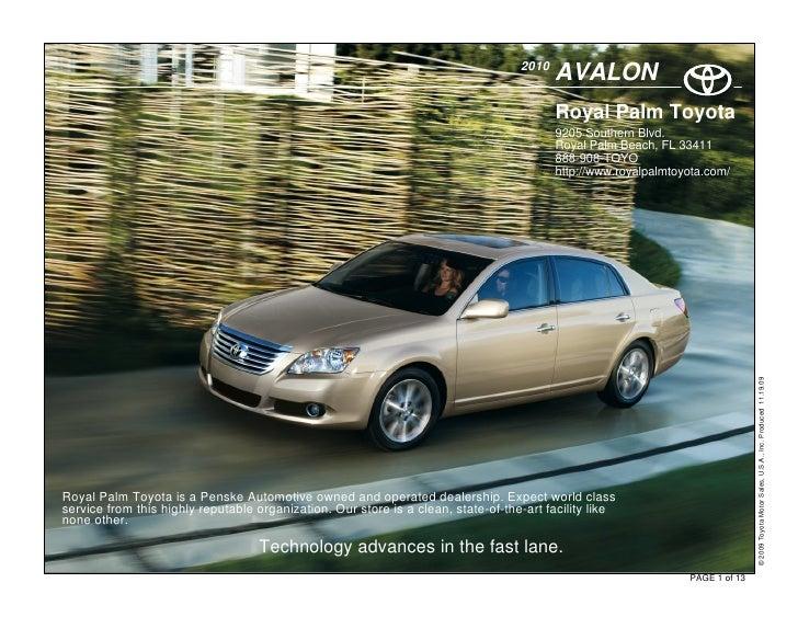 2010 Royal Palm Toyota Avalon Royal Palm Beach FL
