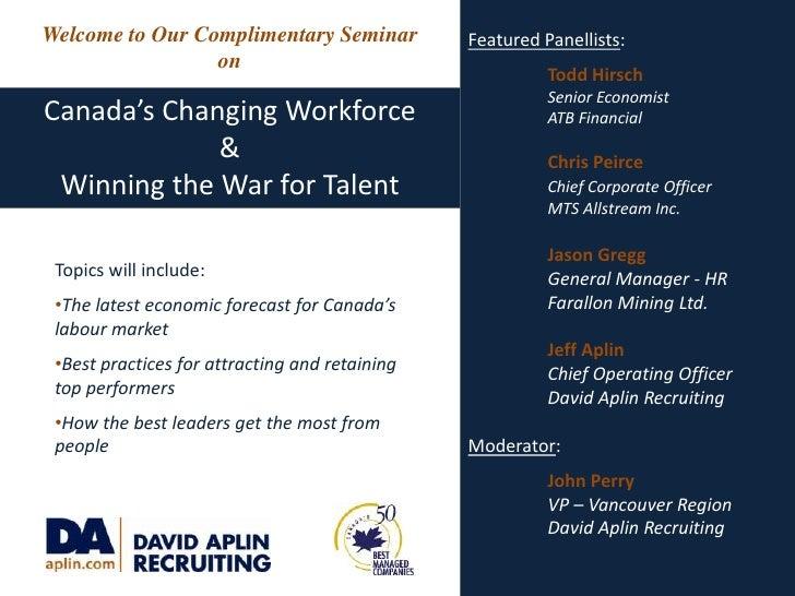David Aplin Seminar Canada's Changing Workforce
