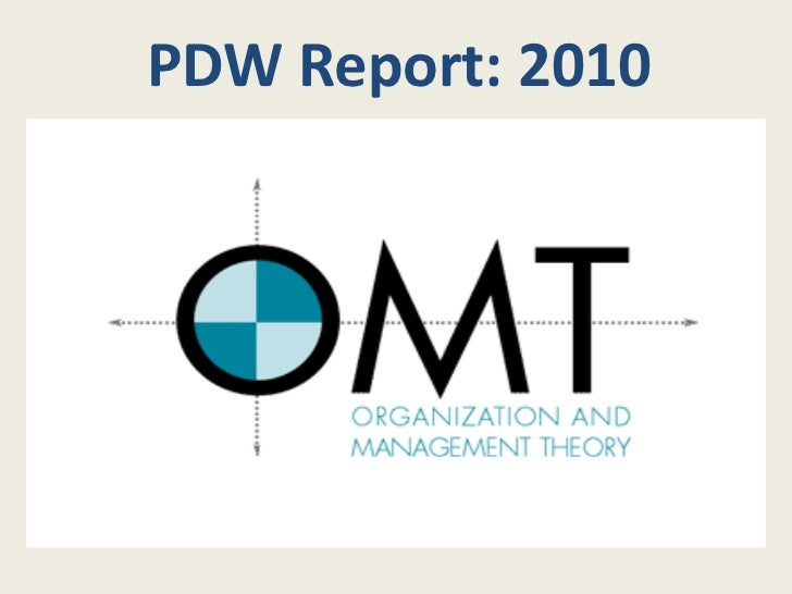 PDW Report: 2010