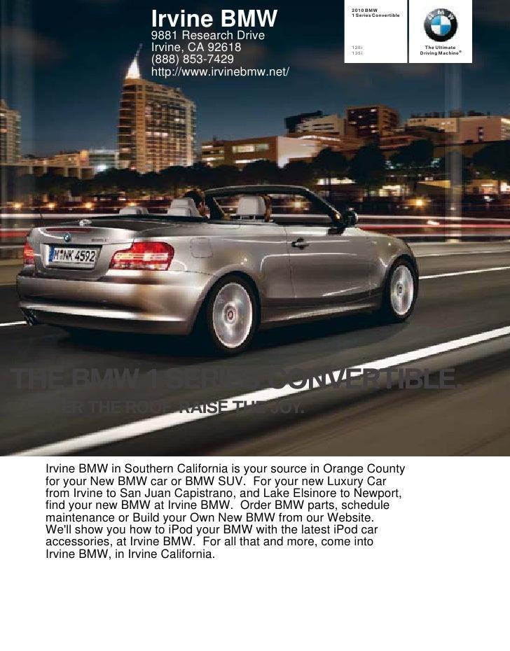2010 BMW                        Irvine BMW                          1 Series Convertible                         9881 Rese...