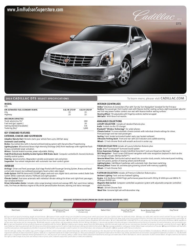 2010 Cadillac DTS Columbia South Carolina