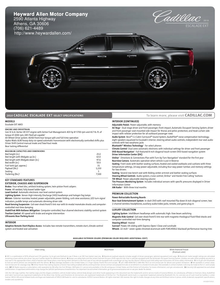 2012 cadillac escalade brochure for Cadillac motor car company
