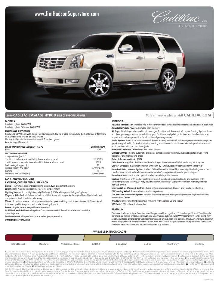 2010 Cadillac Escalade Hybrid Columbia SC