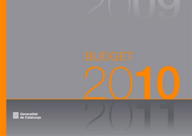 Catalan Government Budget 2010