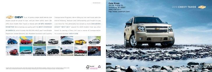 2010 Chevrolet Tahoe Cole Krum Kalamazoo MI