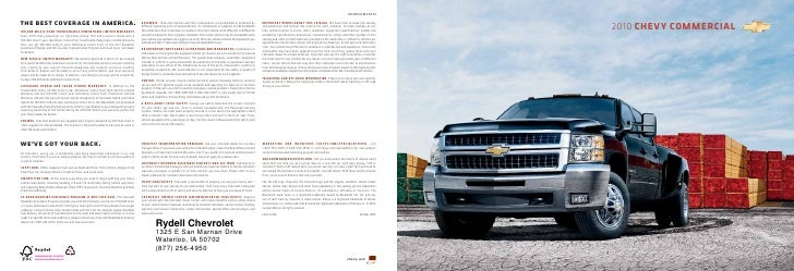 2010 Chevrolet Commercial Trucks Waterloo