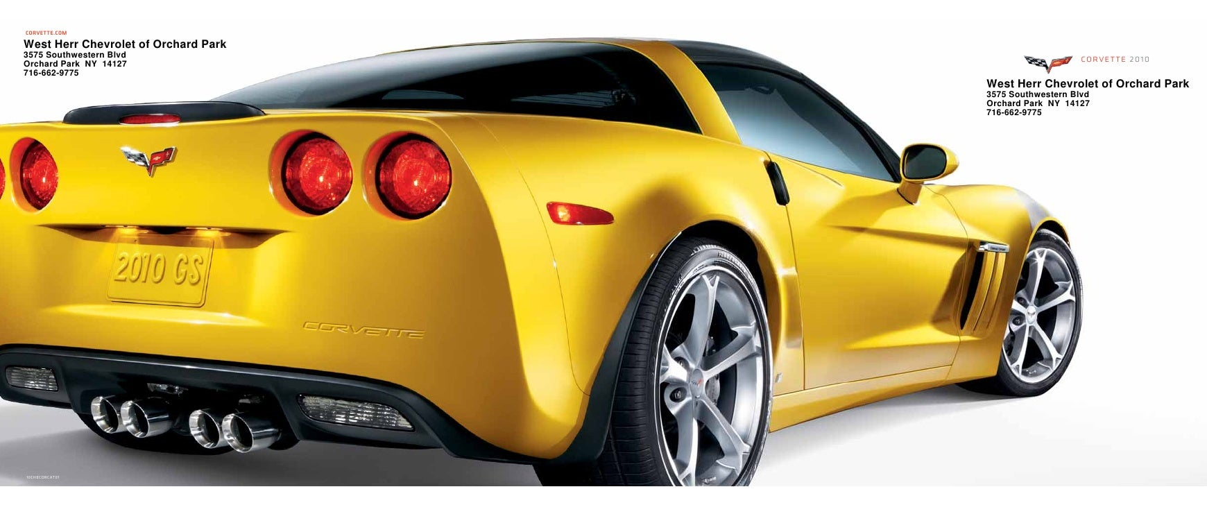 CORVETTE.COM  West Herr Chevrolet of Orchard Park 3575 Southwestern Blvd                                    corvette 2010 ...