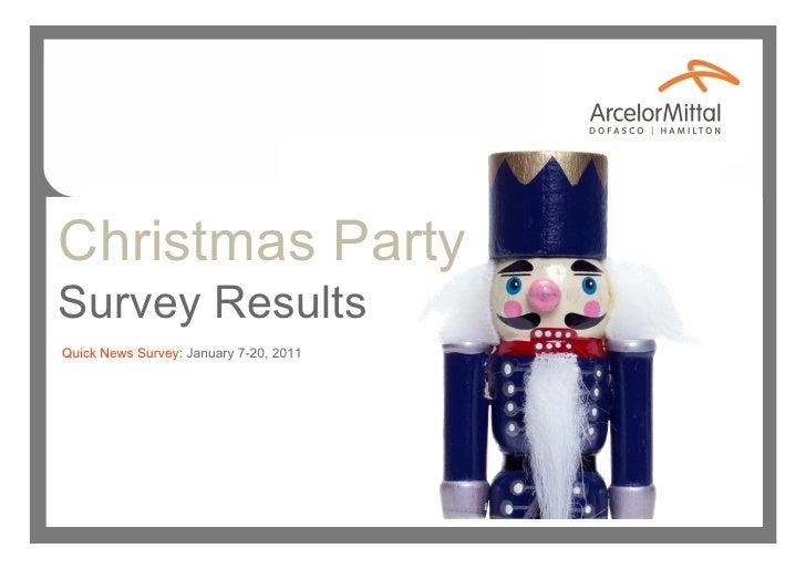 Christmas PartySurvey ResultsQuick News Survey: January 7-20, 2011