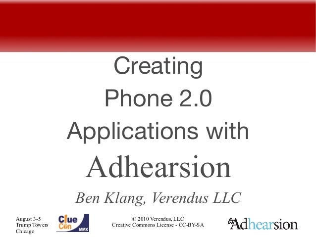 Creating Phone 2.0 Applications with Adhearsion