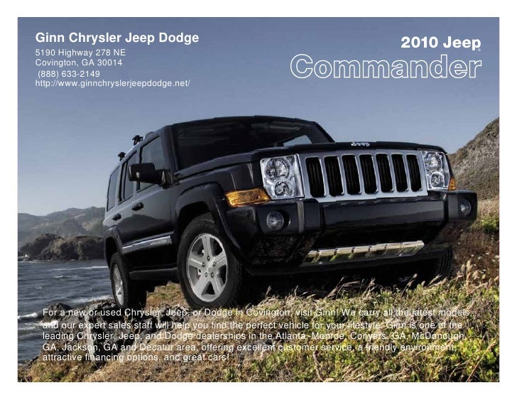 2010 Ginn Chrysler Jeep Dodge Jeep Commander Jackson GA