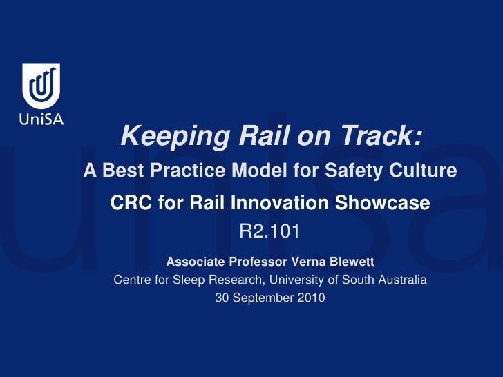 2010 CRC Showcase - Safety & Security - Safety Culture Management R2.101