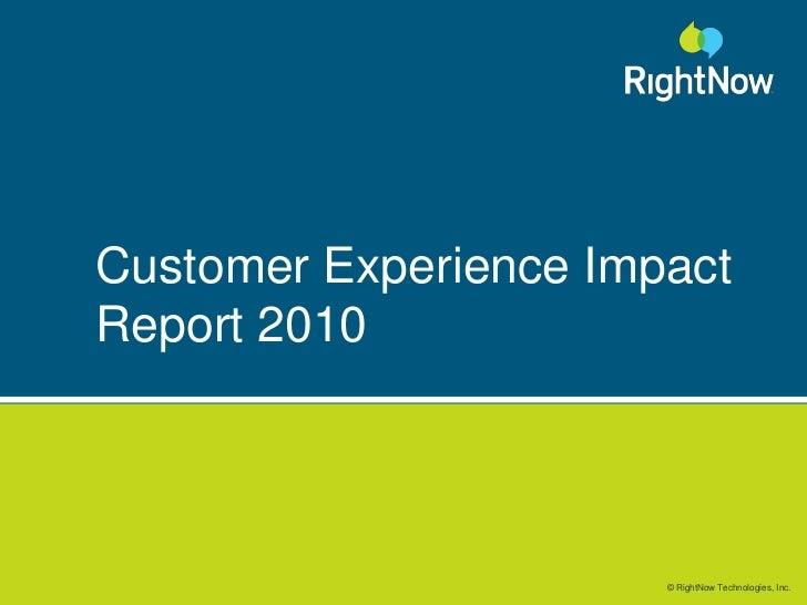 2010 Customer Experience Impact Report