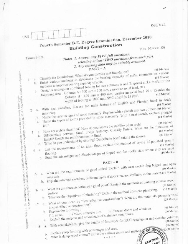 4th semester Civil Engineering (2010 - December) Question Papers
