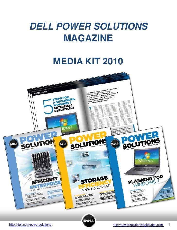 DELL POWER SOLUTIONS                     MAGAZINE                                   MEDIA KIT 2010     http://dell.com/pow...
