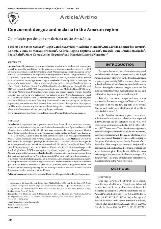 2010 dengue and  malária
