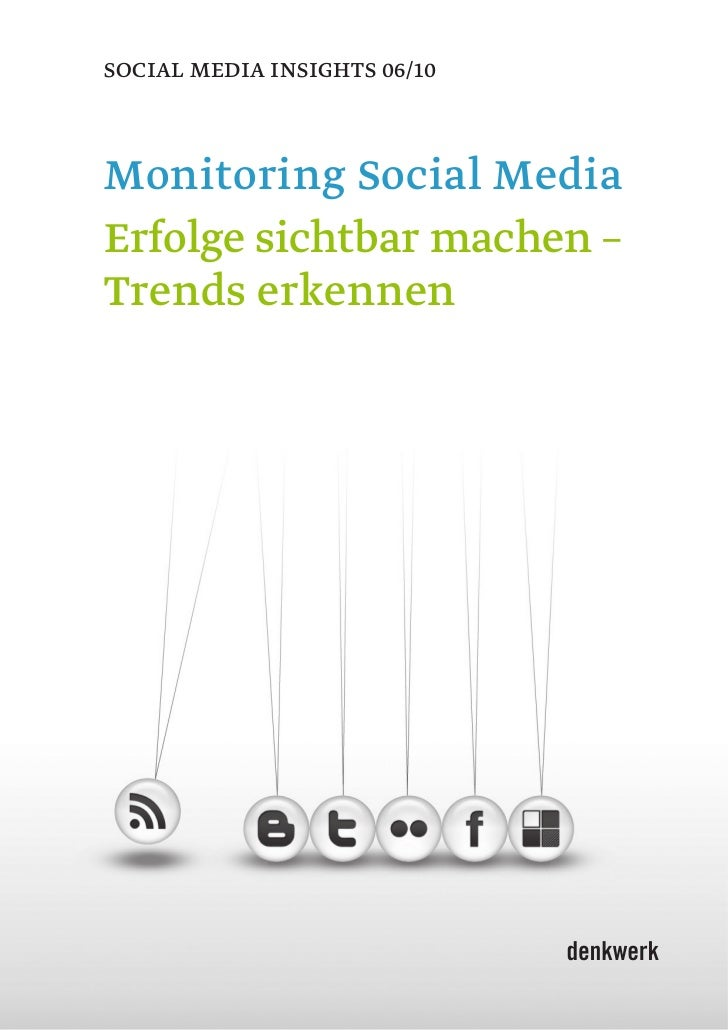 denkwerk Whitepaper: Monitoring Social Media. Erfolge sichtbar machen – Trends erkennen (Juni 2010)
