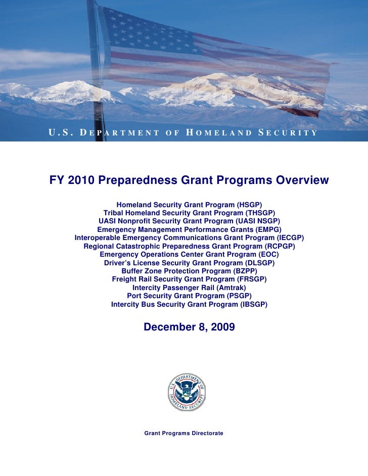 2010 Dhs Grant Programs Overview