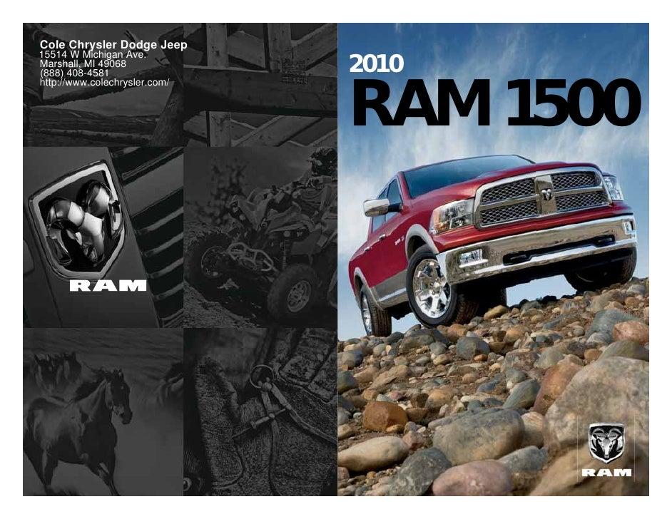 2010 Dodge Ram 1500 Cole Chrysler Dodge Jeep  Marshall MI